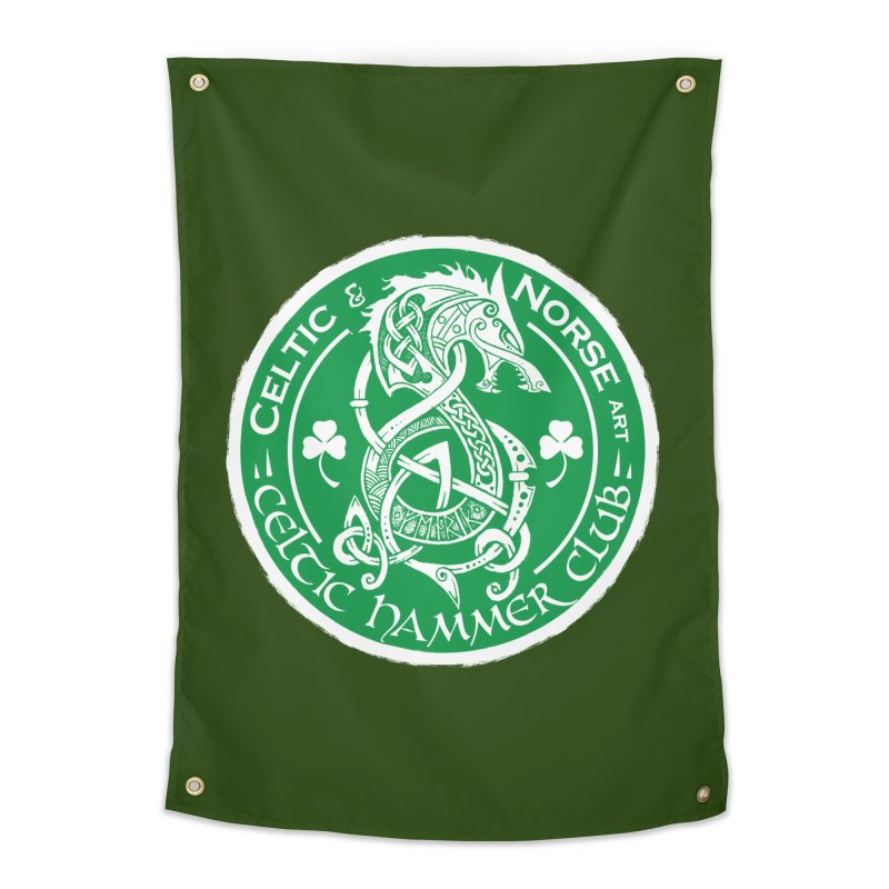 Celtic Hammer Club Irish Badge Logo Home Tapestry by Celtic Hammer Club