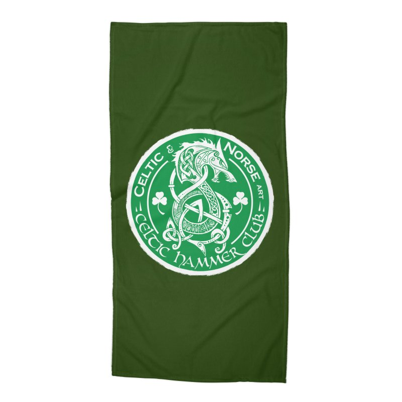 Celtic Hammer Club Irish Badge Logo Accessories Beach Towel by Celtic Hammer Club