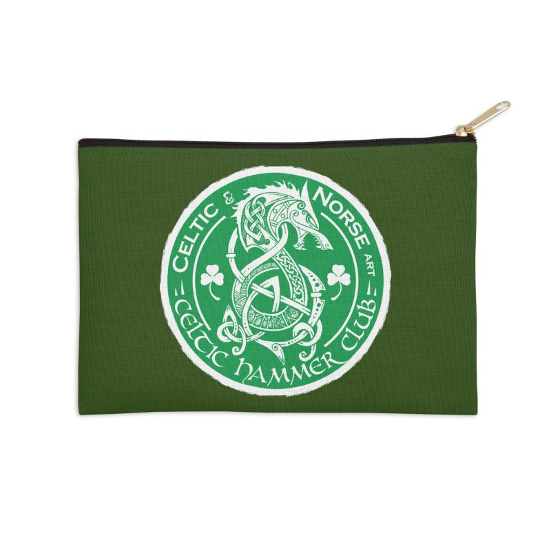 Celtic Hammer Club Irish Badge Logo Accessories Zip Pouch by Celtic Hammer Club