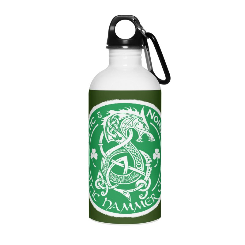 Celtic Hammer Club Irish Badge Logo Accessories Water Bottle by Celtic Hammer Club