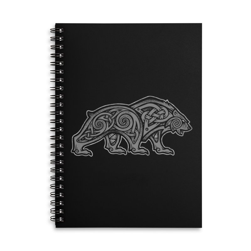 Bear Accessories Notebook by Celtic Hammer Club