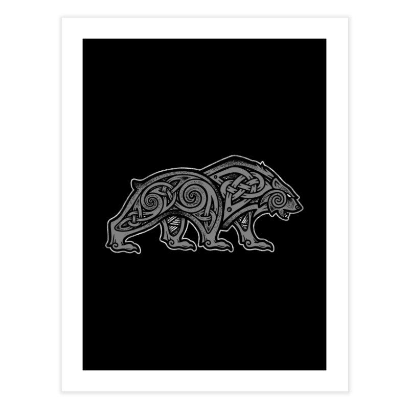 Bear Home Fine Art Print by Celtic Hammer Club