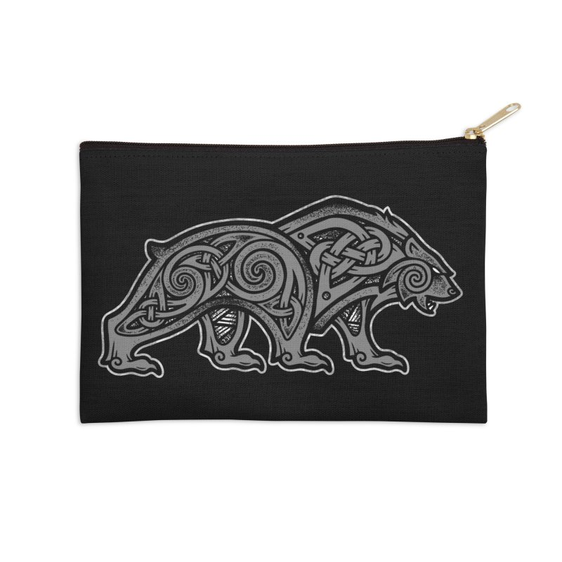 Bear Accessories Zip Pouch by Celtic Hammer Club