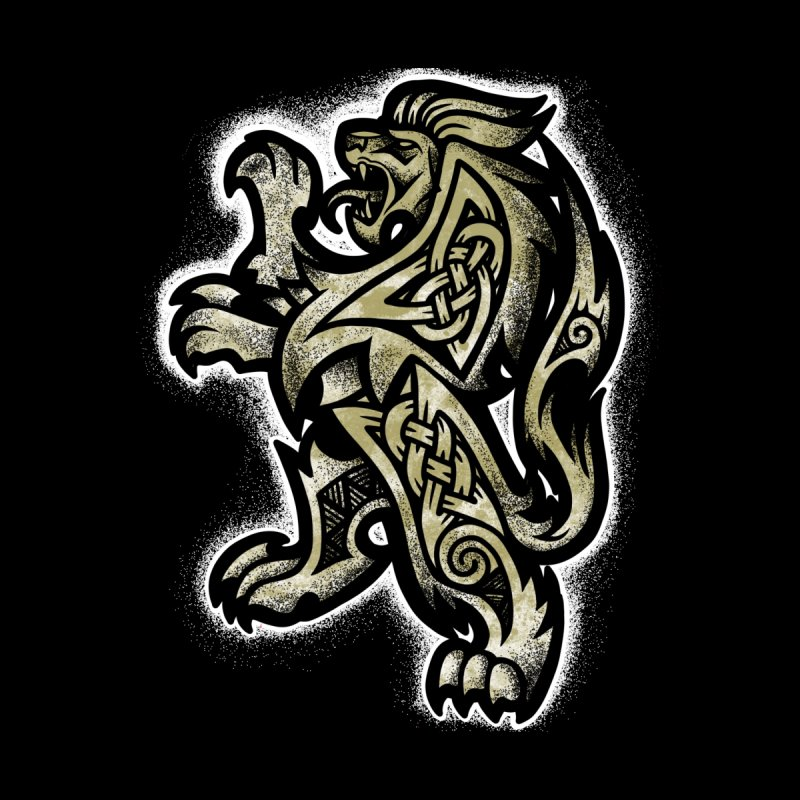 Heraldic Lion Accessories Skateboard by Celtic Hammer Club