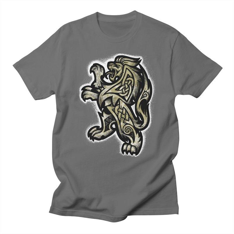 Heraldic Lion Men's T-Shirt by Celtic Hammer Club