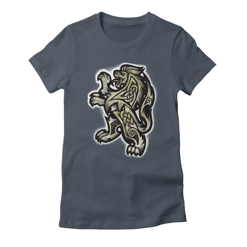 Heraldic Lion Women's T-Shirt by Celtic Hammer Club