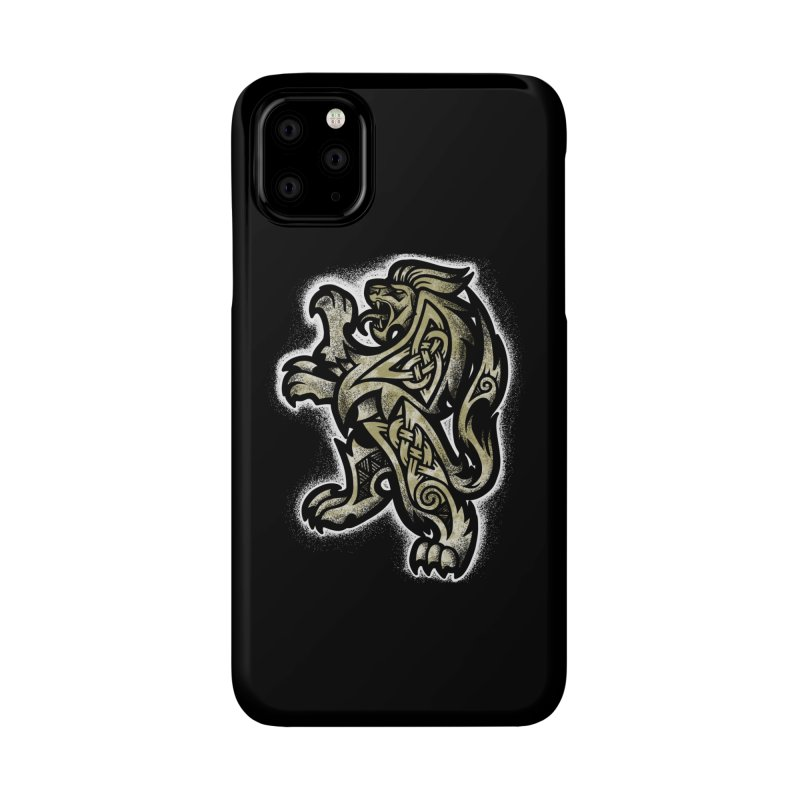 Heraldic Lion Accessories Phone Case by Celtic Hammer Club