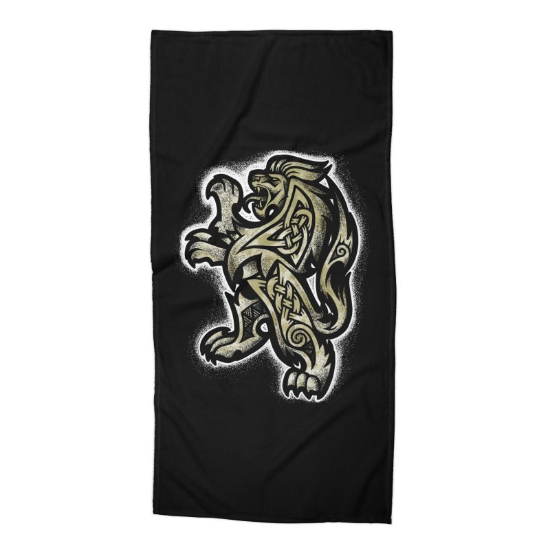 Heraldic Lion Accessories Beach Towel by Celtic Hammer Club