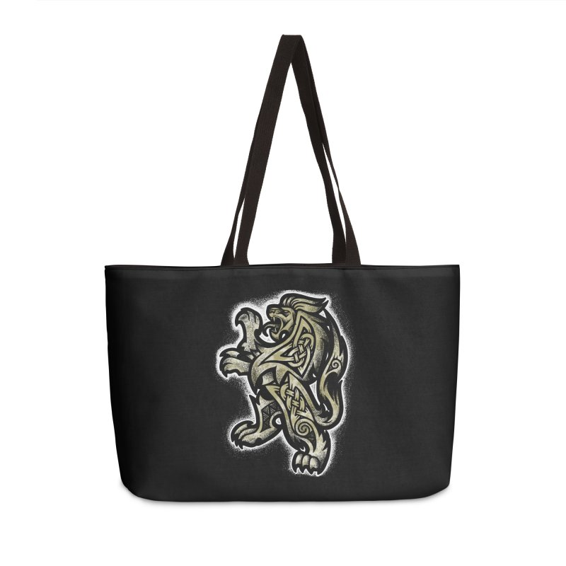 Heraldic Lion Accessories Bag by Celtic Hammer Club
