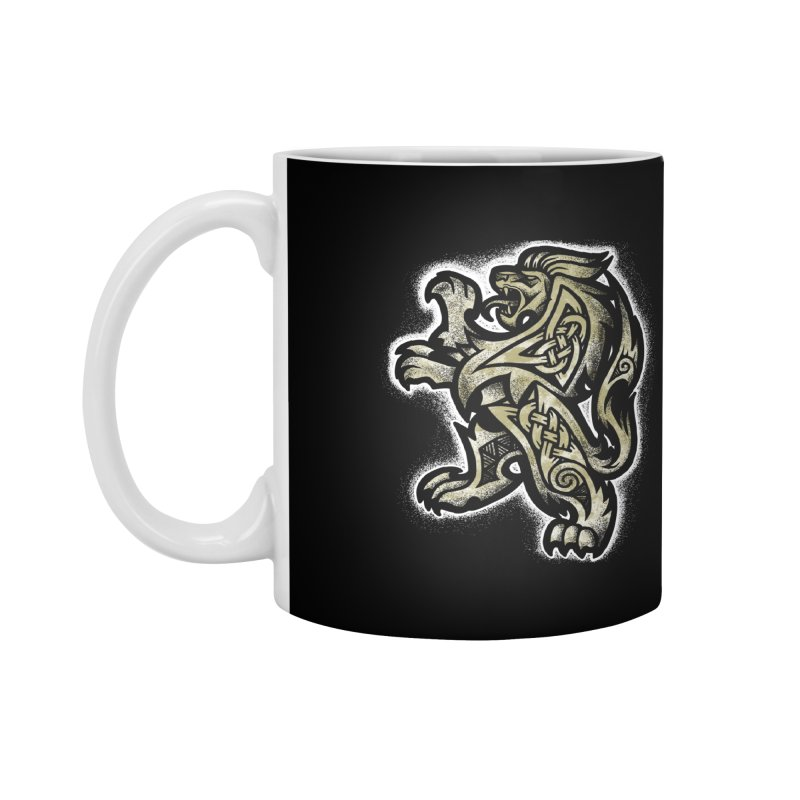 Heraldic Lion Accessories Mug by Celtic Hammer Club