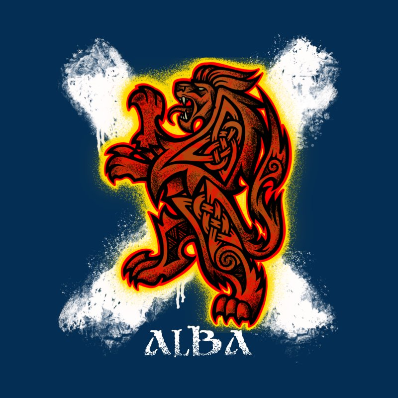 Scottish Lion and Saltire Women's V-Neck by Celtic Hammer Club