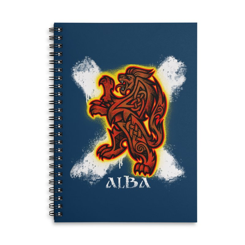 Scottish Lion and Saltire Accessories Notebook by Celtic Hammer Club