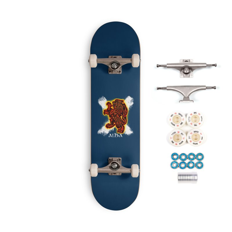 Scottish Lion and Saltire Accessories Skateboard by Celtic Hammer Club