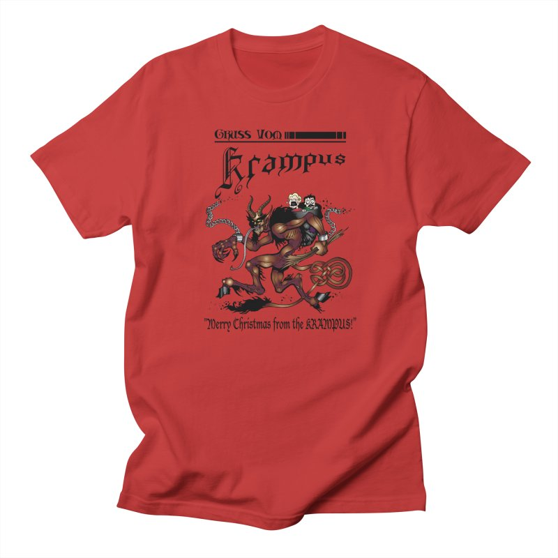 Gruss Vöm Krampus! in Men's T-Shirt Red by Celtic Hammer Club Apparel