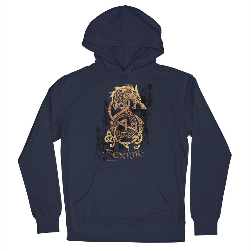 Gold Fenrir Wolf Men's Pullover Hoody by Celtic Hammer Club