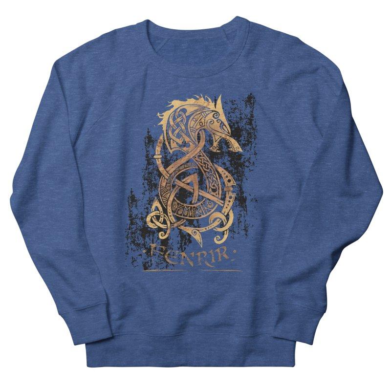 Gold Fenrir Wolf Men's Sweatshirt by Celtic Hammer Club