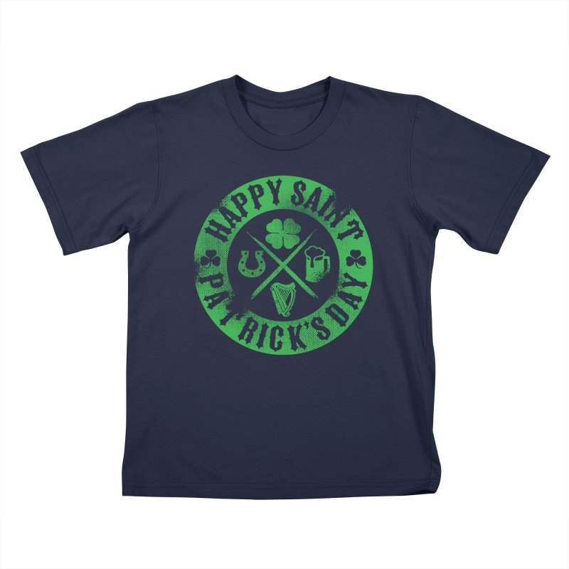 St. Patrick's Day Badge Logo Kids T-Shirt by Celtic Hammer Club