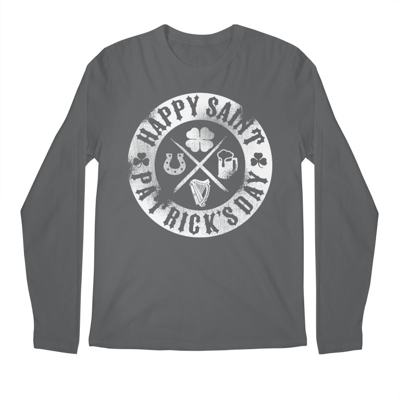 St. Patrick's Day Badge Logo Men's Longsleeve T-Shirt by Celtic Hammer Club