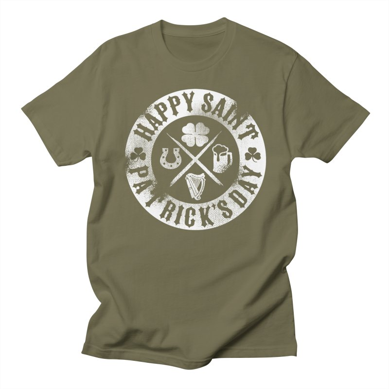 St. Patrick's Day Badge Logo Men's T-Shirt by Celtic Hammer Club
