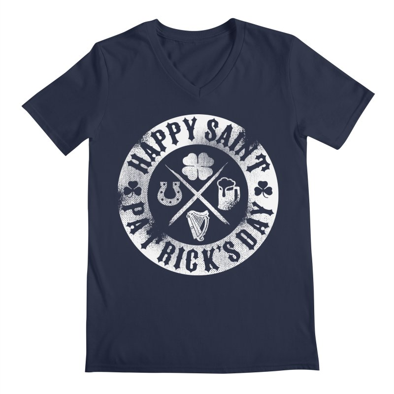 St. Patrick's Day Badge Logo Men's V-Neck by Celtic Hammer Club