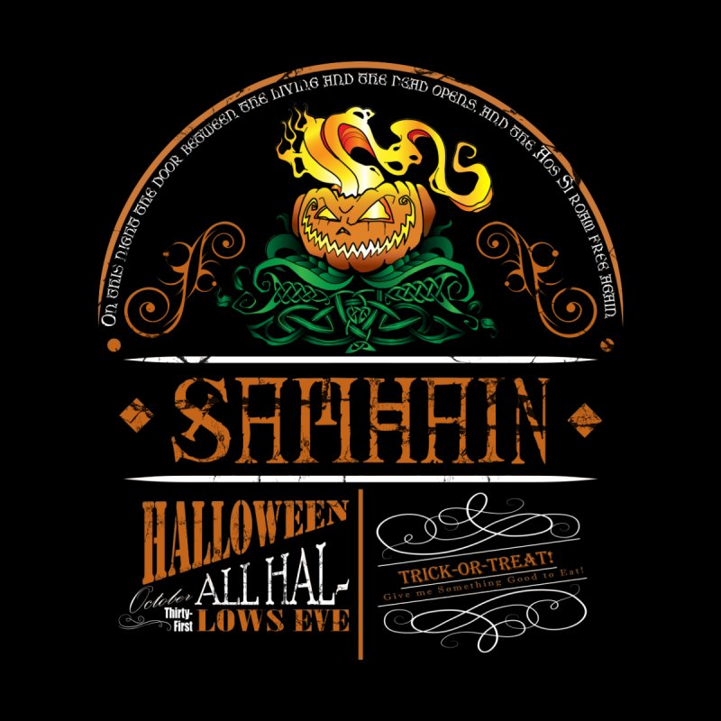 Samhain: Celtic Halloween Men's T-Shirt by Celtic Hammer Club