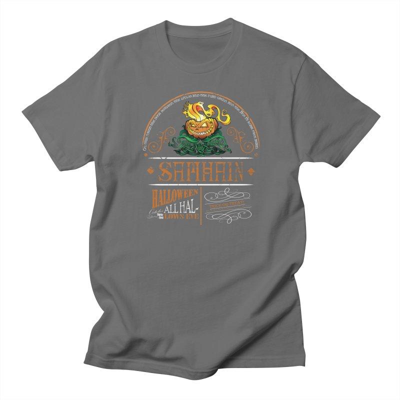 Samhain: Celtic Halloween Men's T-Shirt by Celtic Hammer Club