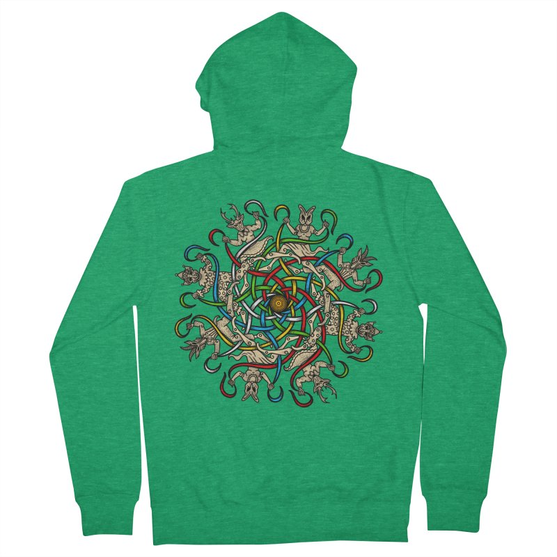 Beltane May Day Men's Zip-Up Hoody by Celtic Hammer Club