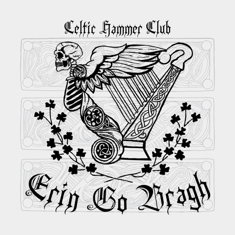 """""""Angel of Death"""" Celtic Harp by Celtic Hammer Club Apparel"""