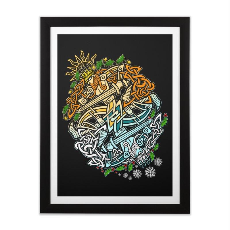Solstice Showdown Home Framed Fine Art Print by Celtic Hammer Club