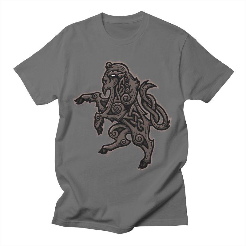 Bison Rampant Men's T-Shirt by Celtic Hammer Club