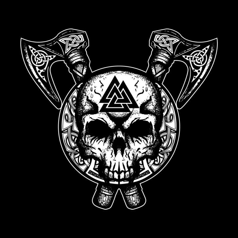 Odin Valknut Skull Men's T-Shirt by Celtic Hammer Club