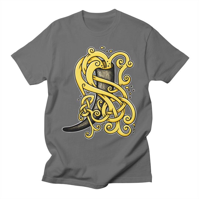 Drinking Horn Men's T-Shirt by Celtic Hammer Club