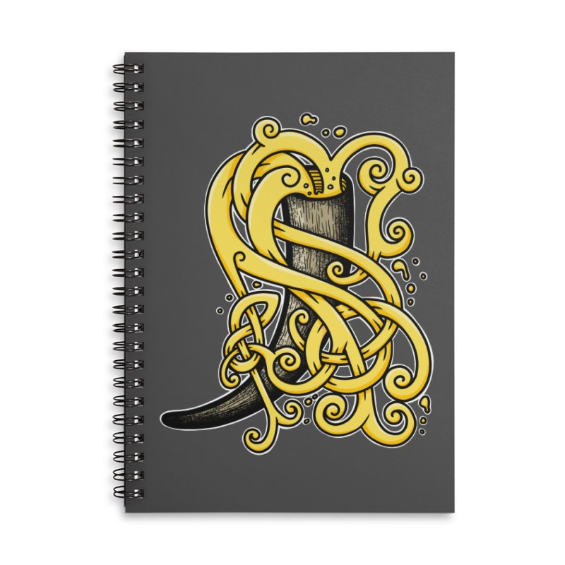 Drinking Horn Accessories Notebook by Celtic Hammer Club