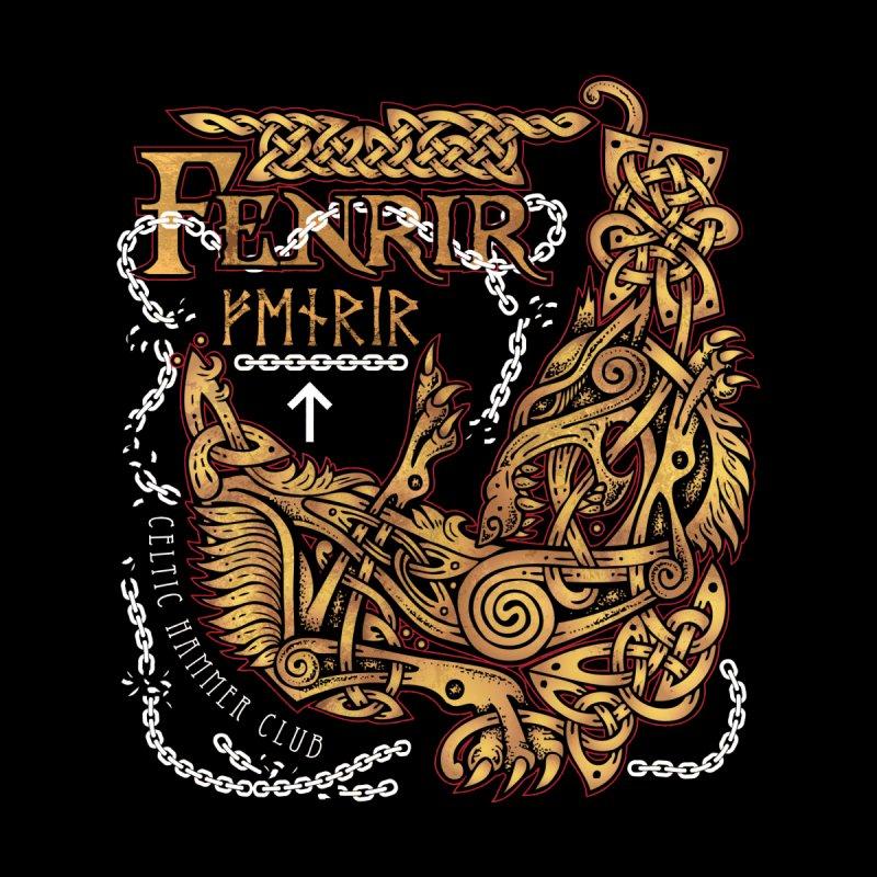 Fenrir: Ragnarok Viking Monster Wolf by Celtic Hammer Club Apparel