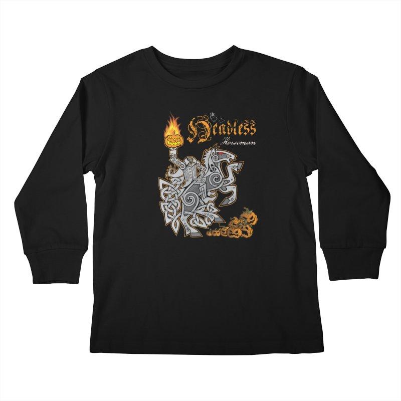 The Headless Horseman Kids Longsleeve T-Shirt by Celtic Hammer Club