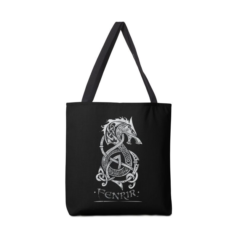 Fenrir: The Monster Wold of Norse Mythology (Gray) Accessories Bag by Celtic Hammer Club Apparel