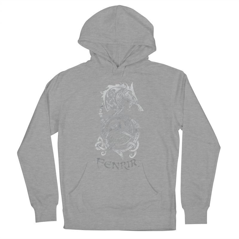Gray Fenrir Wolf Women's Pullover Hoody by Celtic Hammer Club