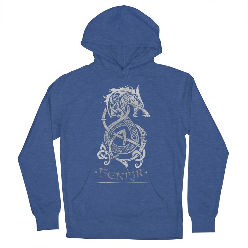 Fenrir: The Monster Wold of Norse Mythology (Gray) Women's Pullover Hoody by Celtic Hammer Club Apparel