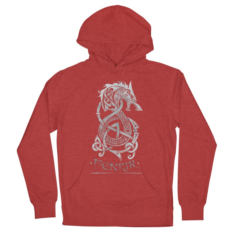 Fenrir: The Monster Wold of Norse Mythology (Gray) Men's Pullover Hoody by Celtic Hammer Club Apparel