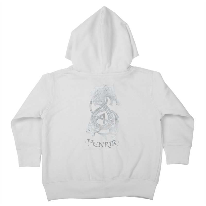 Fenrir: The Monster Wold of Norse Mythology (Gray) Kids Toddler Zip-Up Hoody by Celtic Hammer Club Apparel