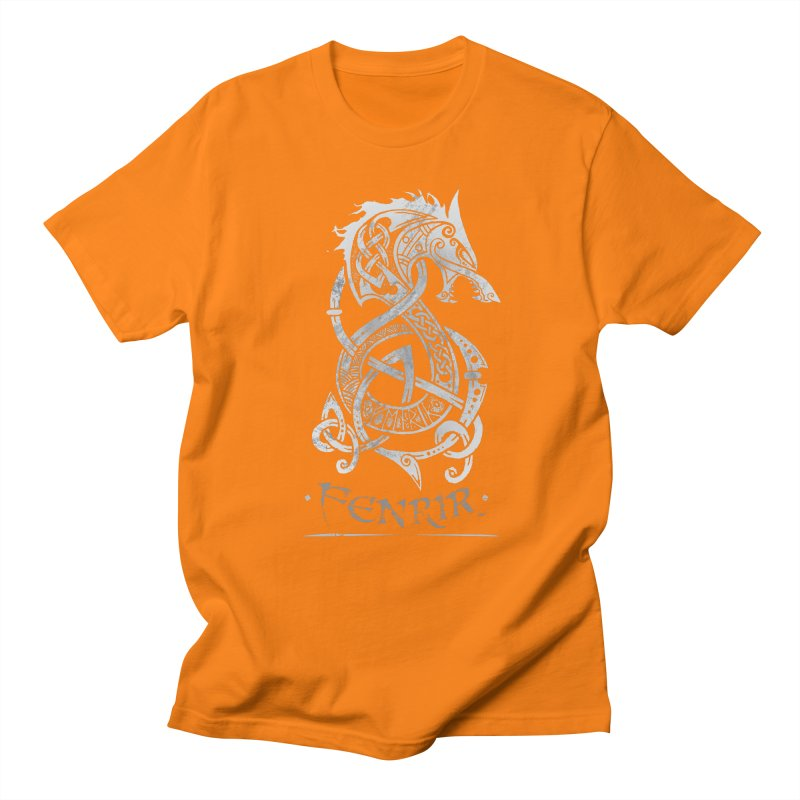 Gray Fenrir Wolf Women's T-Shirt by Celtic Hammer Club