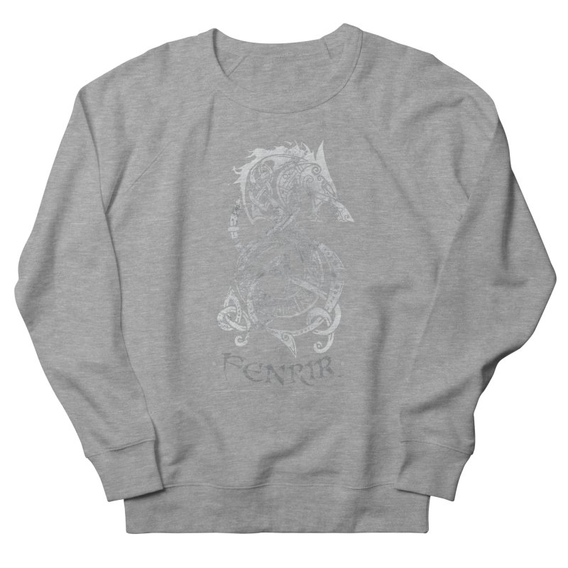 Gray Fenrir Wolf Women's Sweatshirt by Celtic Hammer Club
