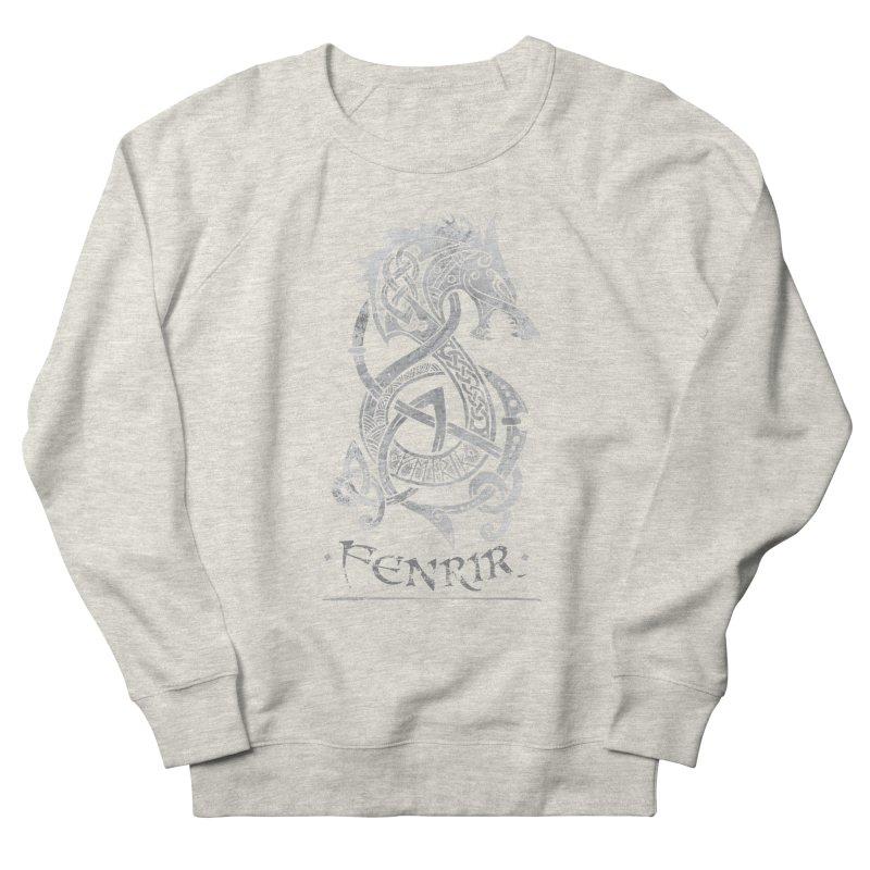 Gray Fenrir Wolf Women's Sweatshirt by Celtic Hammer Club