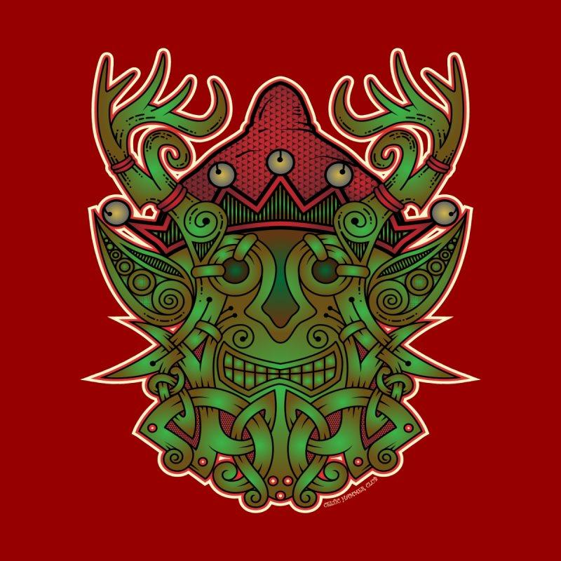 Yule Elf Viking Godmask Men's V-Neck by Celtic Hammer Club Apparel