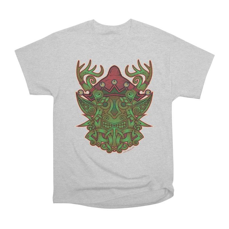 Yule Elf Viking Godmask Women's Classic Unisex T-Shirt by Celtic Hammer Club Apparel