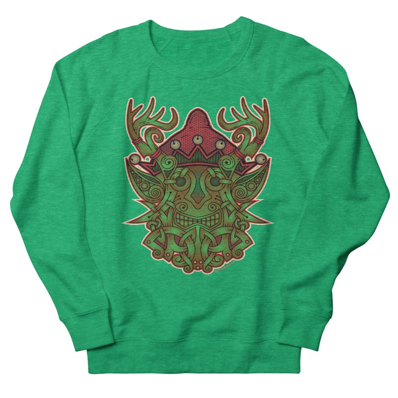 Yule Elf Viking Godmask Women's Sweatshirt by Celtic Hammer Club Apparel