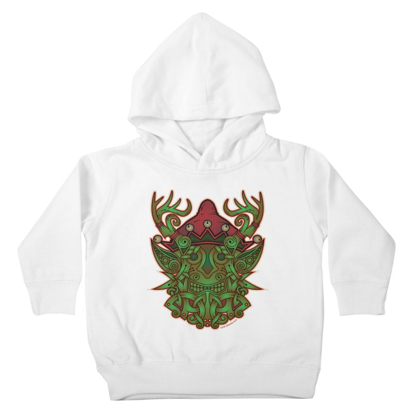 Yule Elf Viking Godmask Kids Toddler Pullover Hoody by Celtic Hammer Club Apparel