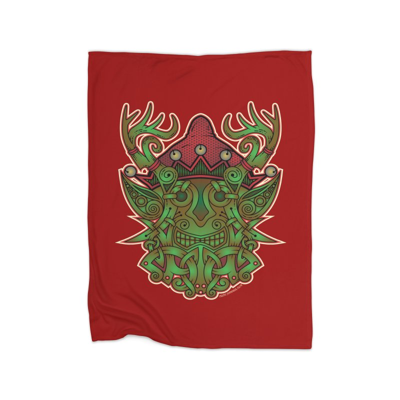 Yule Elf Viking Godmask Home Blanket by Celtic Hammer Club Apparel