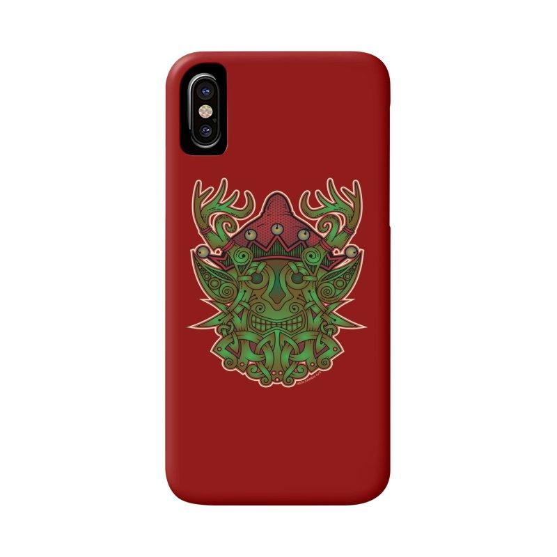 Yule Elf Viking Godmask Accessories Phone Case by Celtic Hammer Club Apparel