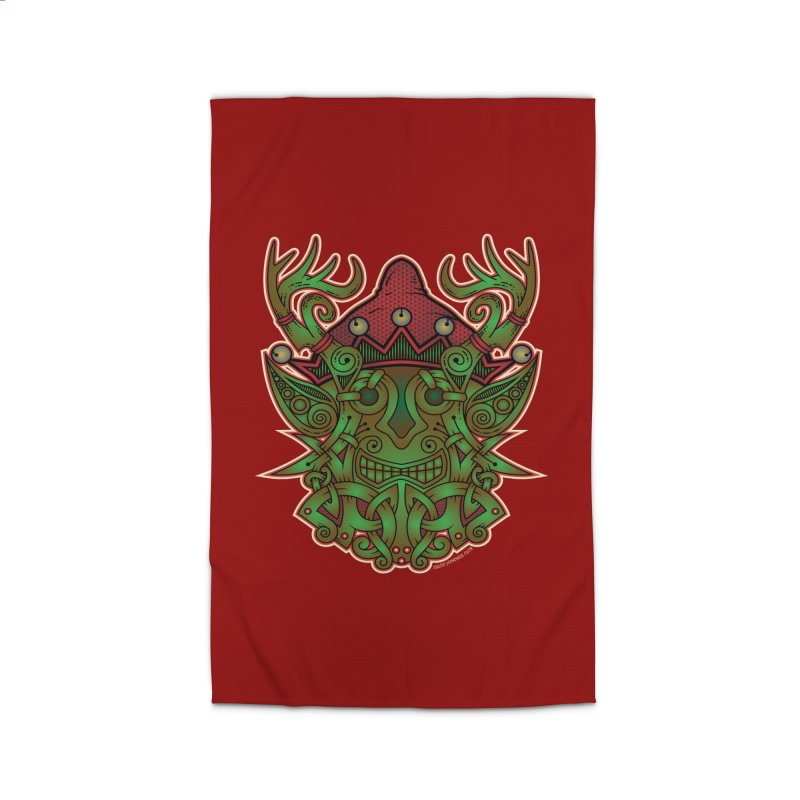 Yule Elf Viking Godmask Home Rug by Celtic Hammer Club Apparel